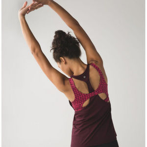 Lululemon All Sport Support Tank Bordeaux Size 4
